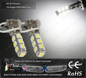 LED-SMD-H3-453-Xenon-White-Fog-Spot-DRL-Daytime-Running-Lights-Bulbs-Lamps-12V