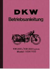 DKW KM 200 und KM200 Luxus Bedienungsanleitung Betriebsanleitung Handbuch