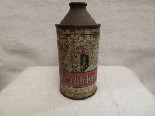 Muehlebach Lager Beer, 12 oz. Cone Top Beer Can