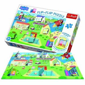 Trefl 36 Piece Children Flip Flap World Peppa Pig Edible Garden Puzzle Ebay