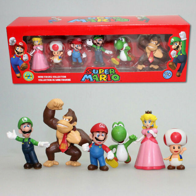 Super Mario Bros Peach Toad Mario Luigi Yoshi Donkey Kong PVC Action Figure Toys
