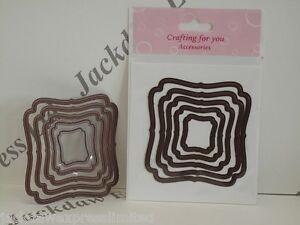Corte-Textura-Nesting-Dies-Calidad-5-Piezas-Cuadrado-Set-d60946-Tarjeteria