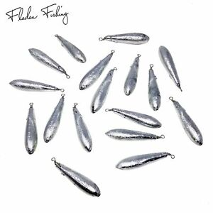 6 packs of 3 Fladen Fishing 18 Bulk Pack of Zinc Swivel Bomb Non-Toxic Aerodynamic Long Cast Marine Weights Available in 10g 20g 30g 40g /& 60g Ideal for Beach Light Boat and Pier