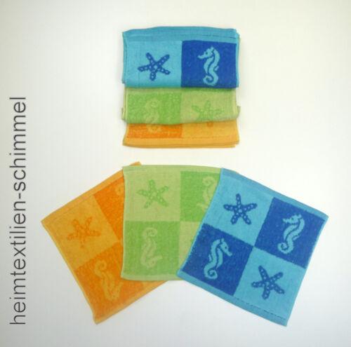 SET 8 tlg bunte Kinder Waschlappen Seiftuch Seiftücher Kinderwaschlappen ÖKO-TEX