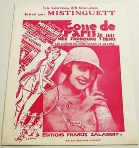 Partition sheet music MISTINGUETT : Gosse de Paris * EX - France - Type: Partition Genre musical: Chanson, Variété franaise Instrument: Chant, Piano Artiste: MISTINGUETT - France