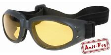 NIGHT DRIVING AMBER LENS GOGGLES SEE AT NIGHT ANTI FOG LENS! GOGGLE GLASSES