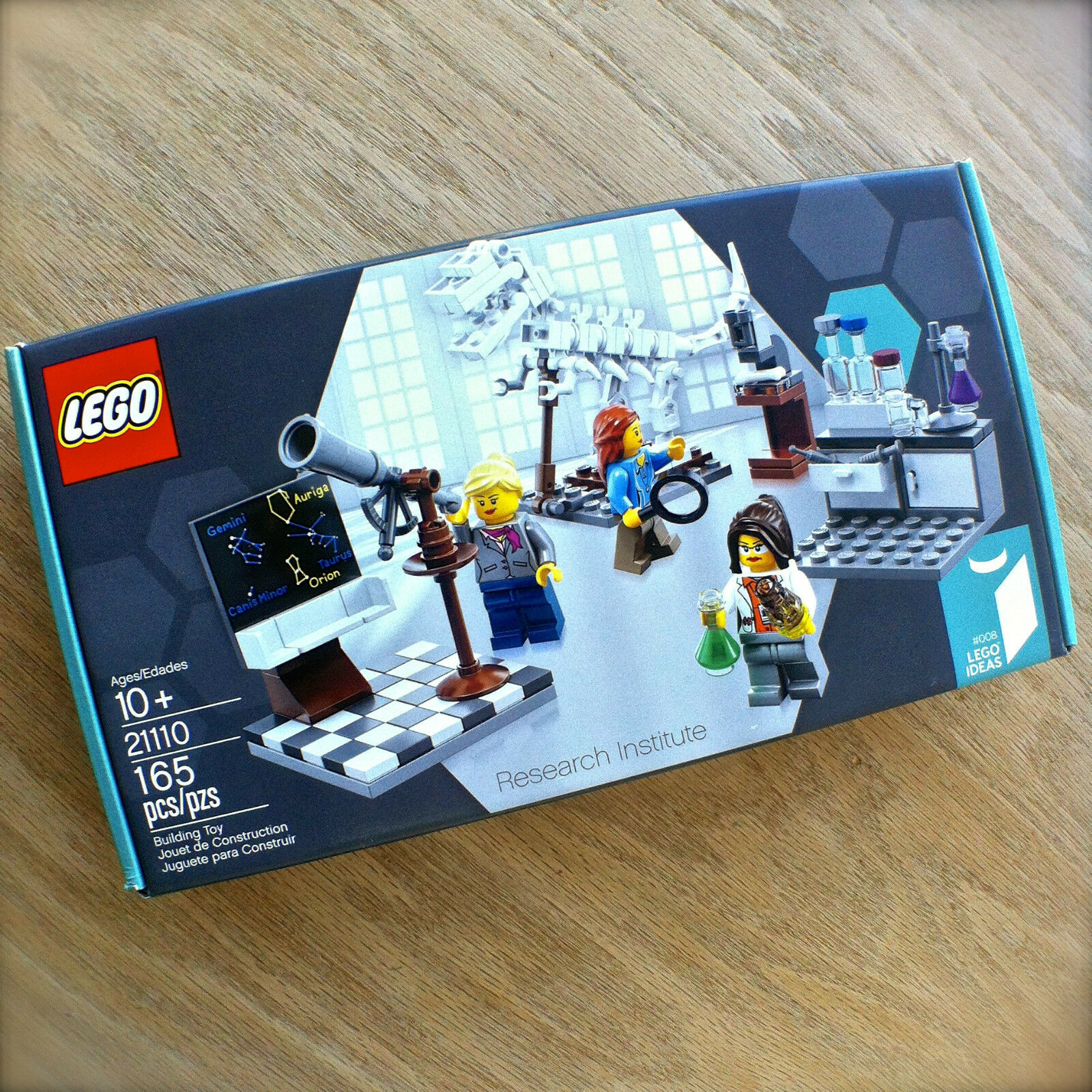 LEGO Ideas 21110 RESEARCH INSTITUTE Chemist Astronomer Paleontologist 165PCS gal