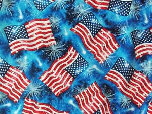 Patriotic-American-Flag-Fabric-Quilting-Blue-Cotton-Timeless-Treasures-BTY-BTHY