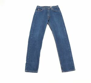 Vtg-90s-Levis-505-Regular-Straight-Leg-Orange-Tab-Distressed-Jeans-USA-Men-32x34