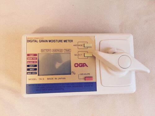 OGA Denshi Grain moisture meter Grain for rice wheat paddy barley Japan