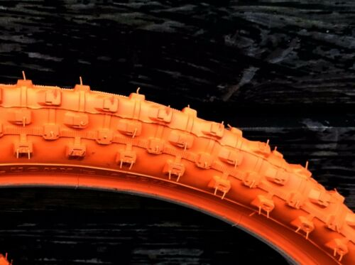 1 PAIR 2 TYRES MOUNTAIN BIKE MTB TYRES TIRES 26 x 2.10 ALL ORANGE M1101