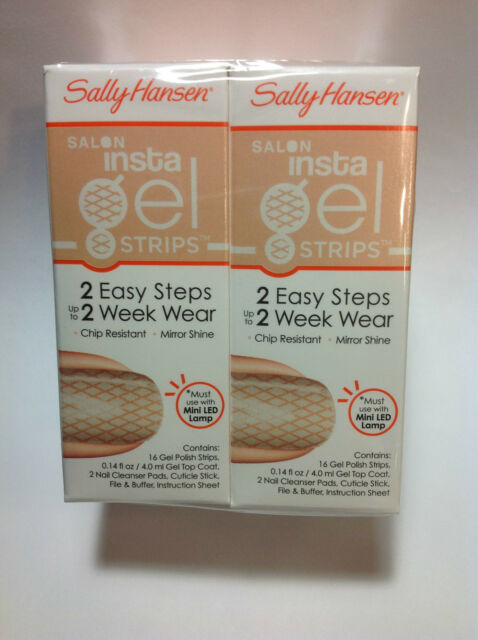 2 X Sally Hansen Insta Gel Strips 470 PARTY HOSE NEW SEALED