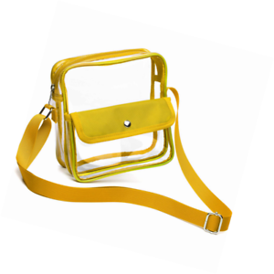 e30e5a2dc0ad Details about Clear Crossbody Bag, Packism Purse NFL PGA Stadium Approved  Shoulder