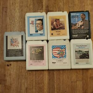 Vintage Country Variety 8 Track Tapes Lot Of 7/Used