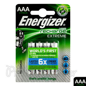 4-x-Energizer-Rechargeable-AAA-batteries-Accu-Recharge-Extreme-NiMH-800mAh-HR03