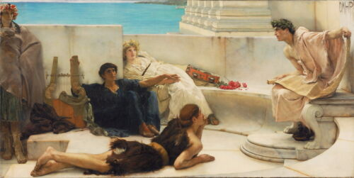 Lawrence Alma Tadema A Reading from Homer Giclee Canvas Print Paintings Poster