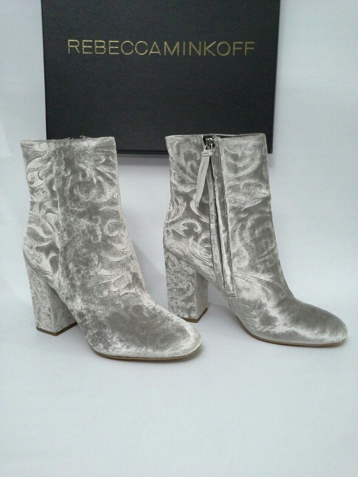 Rebecca Minkoff Bryce Floral Velvet Ankle Boot Bootie Sz 8.5  225