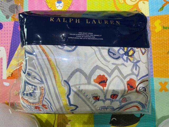 Ralph Lauren Travis Paisely Duvet Cover, King 108