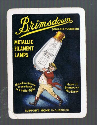 Swap Playing Cards 1 VINT  WIDE  BRITISH BRIMSDOWN LAMPS ADVT G21 METALLIC LAMPS