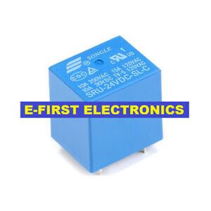 5//20//50pcs SongLe relay SRU-24VDC-SL-C 22F Compound 24V 5pin