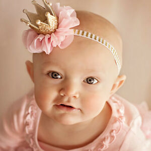1Pc Baby Newborn Crown Headband Princess Queen Toddler Hairband Girl ... 59a457224c00