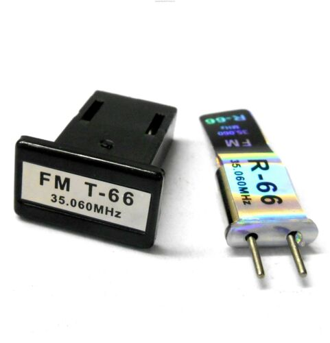 RC Air Heli Plane Receiver Radio Crystal Pair 35 MHZ 35.060 FM Single Conversion