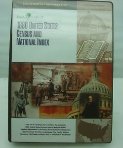 Details about Genealogy Family Search 1880 US Census National Index 56 CD  ROM Binder Ancestry