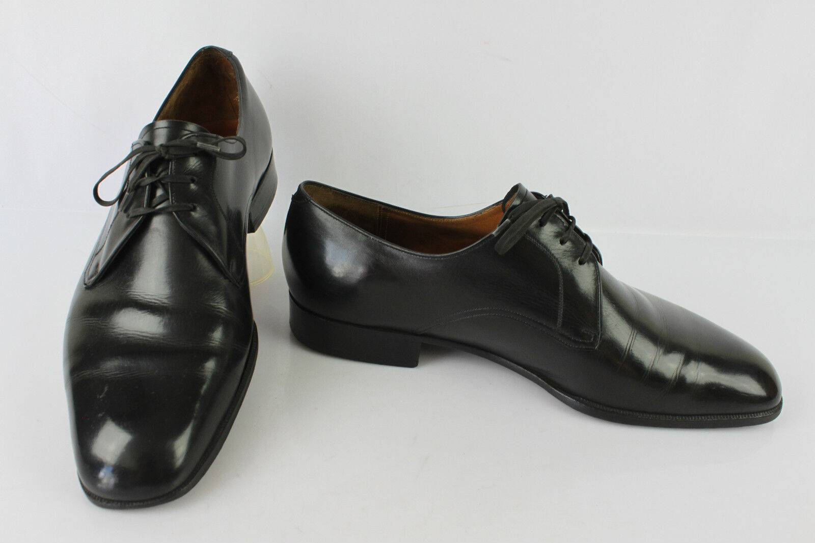VINTAGE Derby HARRY Paris Tout Cuir black   FR 43 BE