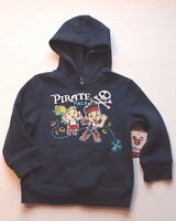 Disney Jake And Never Land Pirates Navy Blue Hoodie Sweatshirt Toddler Boy 2t