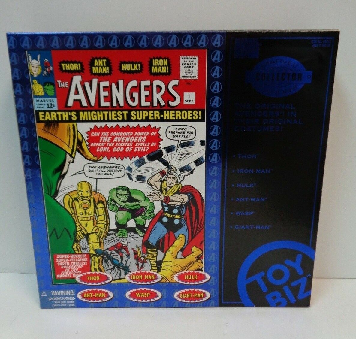 Marvel THE AVENGERS 6 Action Figures Marvel Collector Editions MIB ToyBiz 1997