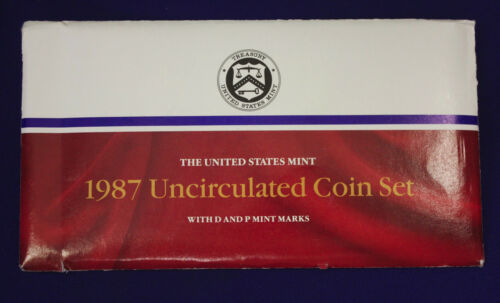 MINT SETS ISSUED BY U.S MINT 1987 UNCIRCULATED Genuine U.S