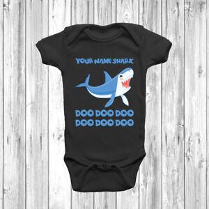 Personalised Baby Shark Baby Grow Body Suit Vest Cute Custom Present Viral Song