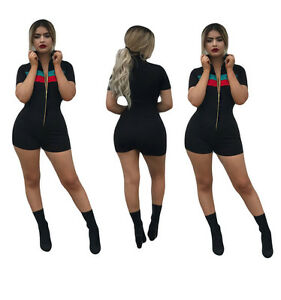 7da29b2c3f4 Image is loading Sexy-Womens-Jumpsuit-Black-Bodycon-Playsuit-Clubwear-Party-