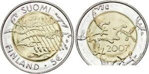 Finlande 5 euro 2007 - 90 ans de l'Indépendance UNC