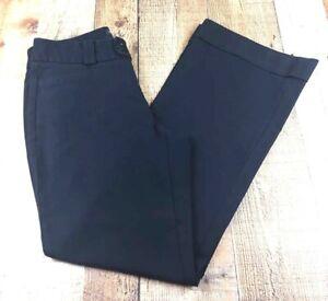 Banana-Republic-Jackson-Fit-Women-039-s-Casual-Pants-Cuffs-Black-Size-8-Inseam-32