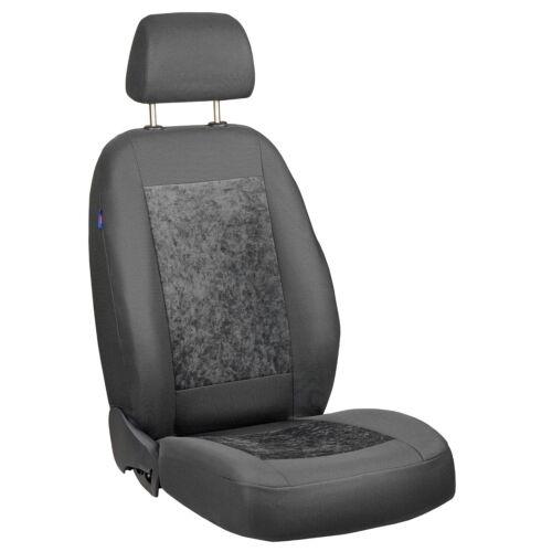 Grauer Velours Sitzbezüge für AUDI Q2 Autositzbezug VORNE