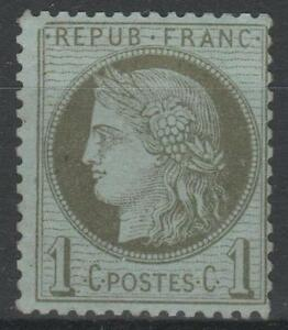 FRANCE-STAMP-TIMBRE-N-50-034-CERES-1c-VERT-OLIVE-1872-034-NEUF-xx-TB-N490