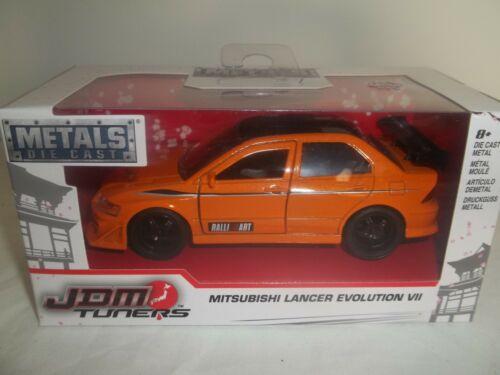 Jada JDM Tuners 24077 MITSUBISHI LANCER EVOLUTION VII orange 1//32 NEW /& BOXED