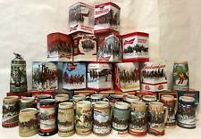 COMPLETE SET of Budweiser Holiday Steins - 1980-2018 - PLUS Two Lim-Ed Steins!