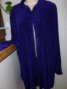 Details about Vikki vi purple slinky ls sleeve buttons top 2x
