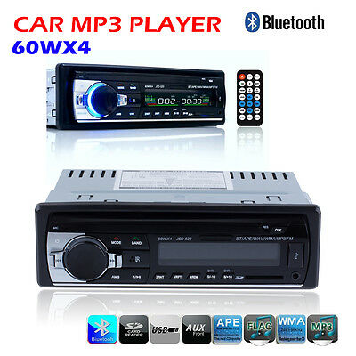 Bluetooth Car Stereo Audio FM Receiver AUX-IN SD USB MP3 Radio Player 1 DIN LWUS
