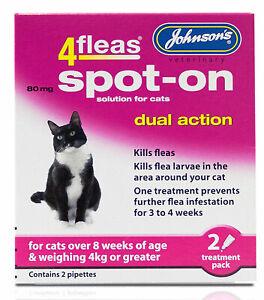 JOHNSONS-4FLEAS-CAT-OVER-4kg-SPOT-ON-DUAL-ACTION-TREATMENT-KILL-FLEAS-amp-LARVAE