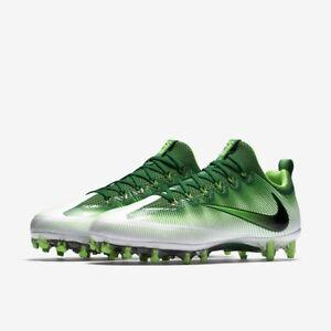 Nike Vapor Untouchable Pro Football Cleats Pine Green/White 833385 301 size 10