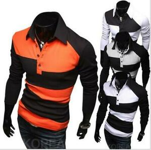 New-Fashion-Men-s-Luxury-Casual-Stylish-Slim-Fit-Long-Sleeve-Casual-Shirts