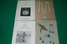 Lot 4 catalogues vente aux enchères orfévrerie bijoux DROUOT de 1987 et 1988