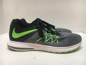 zapatillas nike original zoom winflo 3 negro verde bra1089cc