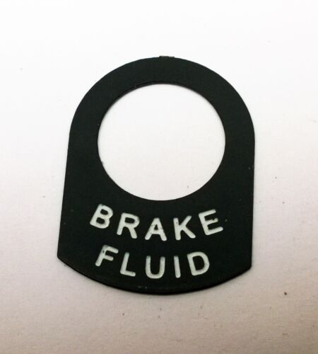 BRAKE FLUID Land Rover Classic Race Rally Kit car switch warning lamp tag