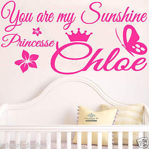 Image Is Loading You Are My Sunshine Princess With Personalised NAME