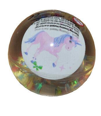 Luminosa Kids Brillavano Unicorno Lampeggiante Lightup Led Palla Con Stella Metallici (6cm) - Bianco-mostra Il Titolo Originale