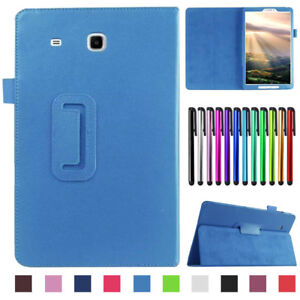 "For Samsung Galaxy Tab E 7"" 8"" 9.6 T560 Tablet Folio PU Leather Stand Cover Case"